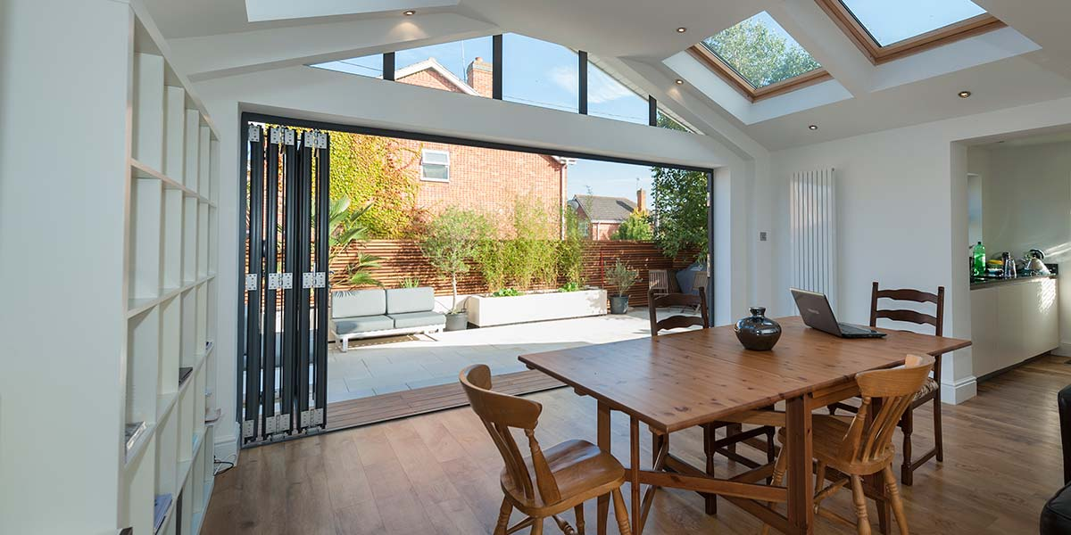 Bi-Folding Doors Internal Image With Garden View