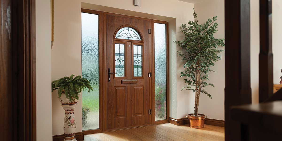 Composite doors front back composite doors from orion for Wood effect upvc french doors