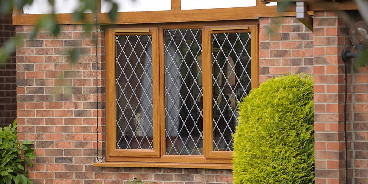Woodgrain leaded upvc windows composite door orion for Wood effect upvc french doors